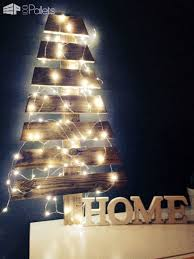 50 Pallet Christmas Trees Holiday Decorations Ideas Fun Crafts For Kids