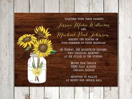 Vintage Mason Jar Wedding Invitations