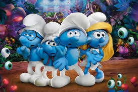 Brainy Clumsy And Brawny Smurf With Smurfette In Smurfs The Lost Village