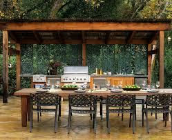 outdoor küche mit gedecktem länglichem bilder kaufen