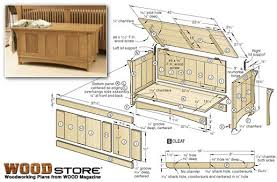 woodworking projects for high students blanket chest bench