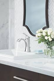 moen voss one handle high arc bathroom faucet with drain assembly