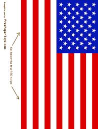 American Flag Printable Coloring Page Nuttin But Preschool PrintableUSAFlag