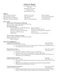 Creative Psychology Major Resume Skills With Additional Examples Free Samples Sample Re