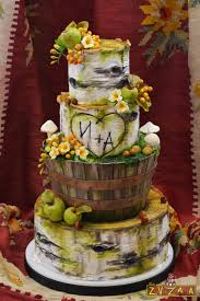 Rustic Birch Tree Wedding Cake