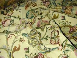 Jacobean Floral Design Curtains by Curtain Fabric Upholstery Fabric Jacobean Tapestry Cream