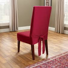 Skirted Parsons Chair Slipcovers classic slipcovers cotton duck long dining chair cover hayneedle
