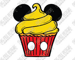 Mickey Mouse Disney Birthday Cupcake Layered Cutting File Printable Clipart in Svg Eps