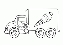 Ice Cream Truck Coloring Page For Kids Transportation Coloring - Ruva