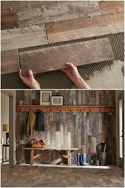 DIY Refinish Your Mud Room With Rustic Wood Plank Tiles Step By