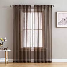 kmsg solid sheer gardinen 2 panels stange pocket sheer gardine für wohnzimmer vorhang sheer for schlafzimmer voile fenster panels panels panels breite