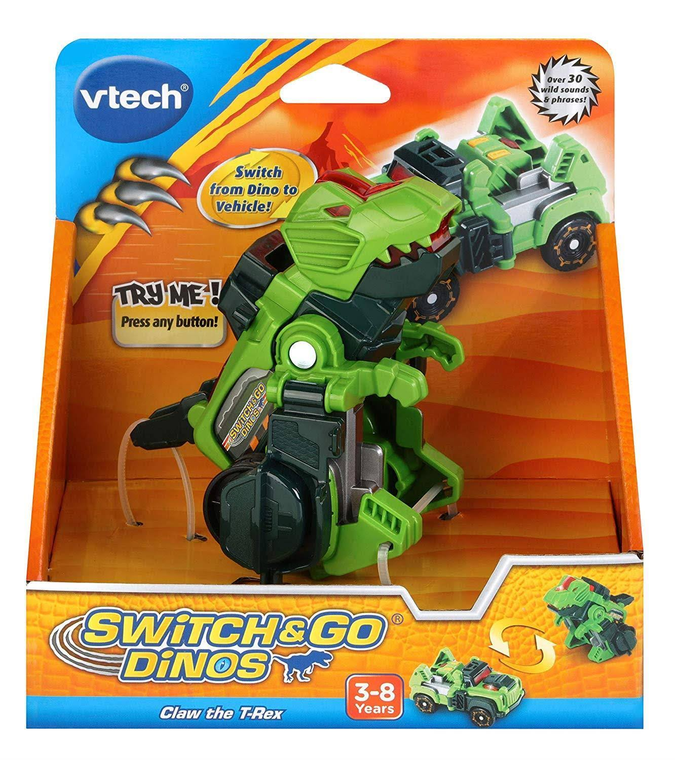 Vtech Switch and Go Dinos Claw the T-Rex Toy