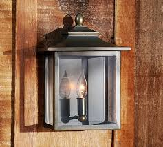 classic indoor outdoor sconce pottery barn throughout lantern
