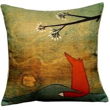 Decorative Couch Pillows Amazon by Amazon Com Leaveland 18 Inch By 18 Inch Lovely Fox Under The Tree