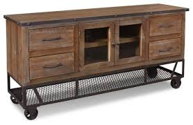Rustic Industrial Style 65 Tv Stand Entertainment Throughout Recent