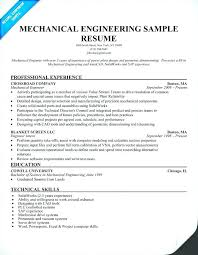 Entry Level Civil Engineering Resume Sample Mechanical Eng