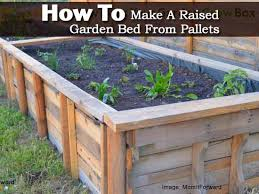How to Make A Raised Garden Bed From Pallets