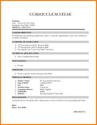Sample Resume For Experienced Candidates In It Refrence