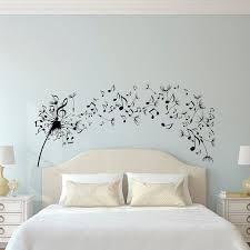 Dandelion Wall Decal Bedroom Music Note Art Flower Decals Living
