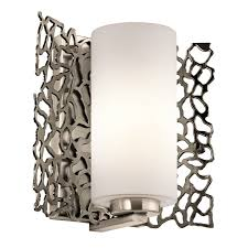 silver coral 1 light wall sconce classic pewter master