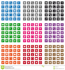 Square web icons stock vector Illustration of icon blue