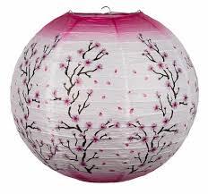 14 Pink Cherry Blossom Tree Japanese Paper Lantern