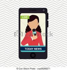 News Reporter Design Vector Illustration Eps10 Graphic Vectors