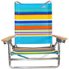 Rio Gear Backpack Chair Blue by Rio 5 Position Layflat Beach Chair Sand Bar Stripe Low Seat