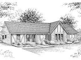 Tudor Style Ranch Home