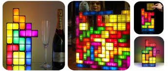 Tetris Stackable Led Desk Light by Duclos Toys Action Figures Collectibles Geek Toys Tetris