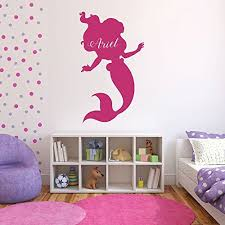 Little Mermaid Bath Decor by Amazon Com Personalized Ariel Wall Decals Vinyl Wall Art Nursery