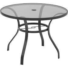 Walmart Patio Tables Only by Mainstays Heritage Park Round Dining Table Brown Walmart Com