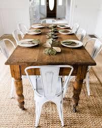 Artistic Ru Unique Rustic Farmhouse Dining Table DZZAPZE