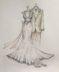 Best Wedding Dress Drawing Photo Of The Sketch