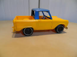 100 Gay Truck Vintage Toys YELLOW AND BLUE FORD BRONCO PLASTIC TRUCK TOY