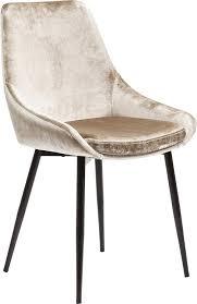 kare design stuhl east side polsterstuhl in samtstoff