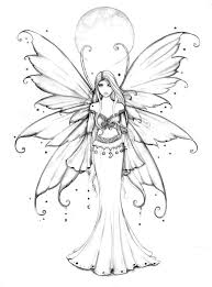 Free Fairy Coloring Page By Molly Harrison Mollyharrisonart