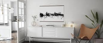 winnipeg canada skyline black and white