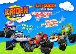 Blaze And The Monster Machines Birthday Invitations - Lijicinu ... Colors Monster Jam Party Supplies Walmart Also Truck Blaze The Machines Birthday Australia Alaide In Cjunction With Nestling Reveal Ideas City Hours Monster Truck Centerpieces Diy Home Decor And Crafts Mudslinger Wikii At In A Box Banner Race