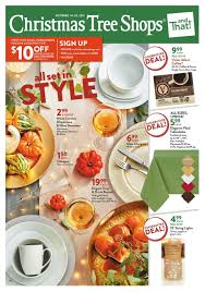 Shopko Christmas Tree Decorations by Christmas Tree Shops Flyer October 13 October 29 2017