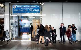 meaning of bureau de change travel holidaymakers offered less than 0 90 per 1