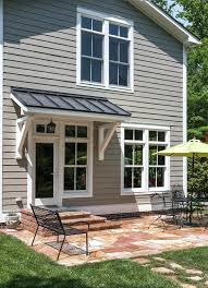 Richmond Front Door Awnings Patio Traditional With Metal Furniture