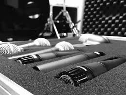 Black And White Microphone Studio Monochrome Luggage Design Sound Music Firearm Audio