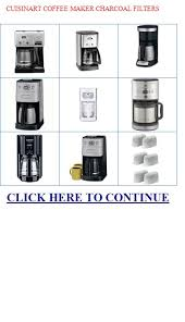 CUISINART COFFEE MAKER CHARCOAL FILTERS