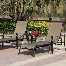 8 Person Outdoor Table by Darlee Monterey 3 Piece Sling Patio Chaise Lounge Set Ultimate Patio