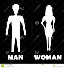 icône de symbole de toilettes d homme et de femme illustration de