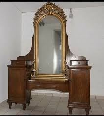 kommode mit spiegel möbel anrichte aus holz antik stil schlafzimmer wohnzimmer