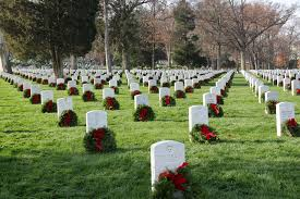 Memorial Day Graveside Decorations by Arlington Cemetery May Not Have Enough Wreaths For Graves