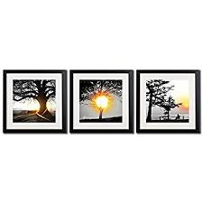 Black White And Gold Wall Decor Pictures Printed On Canvas Tree At Sunrise Giclee Prints Landscape