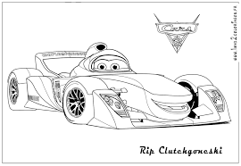 Download Coloring Pages Mcqueen Car Page Cars 3 Free Printable